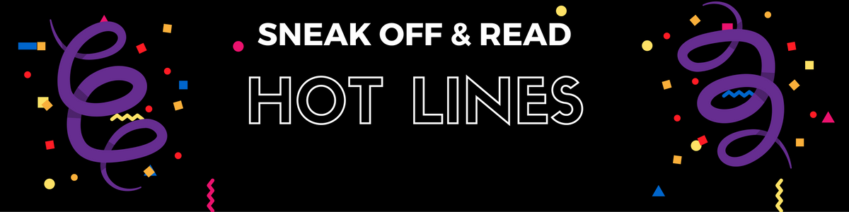 Sneak Off and Read: Lines all about the topic NEW #RSsos #RomSuspense
