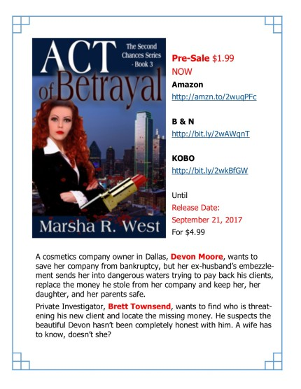 ACT OF BETRAYAL Pre-Sale
